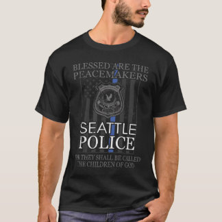 Seattle Police Support Saint Michael Police T-Shirt