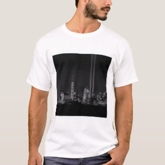sept 11 tribute in lights NYC T-Shirt