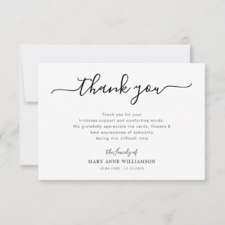 simple script funeral thank you note
