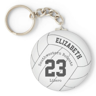 simply designed girls' volleyball backpack tag keychain