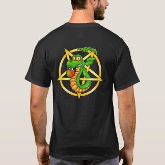 Snake tangled with a pentagram. T-Shirt