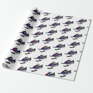 Snowmobile Christmas Wrapping Paper