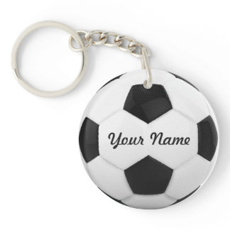Soccer Ball Personalized Name Sport Keychain