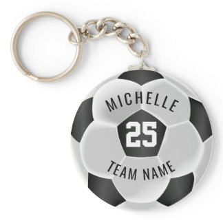 Soccer  - Black and White Keychain