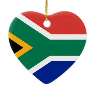 South African National Flag Ceramic Ornament