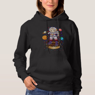 Space Sloth Astronaut Galaxy Planet Donut Candy Hoodie
