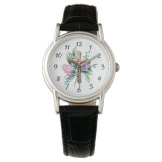 Spring Flowers | Crucifix | Religious Watch