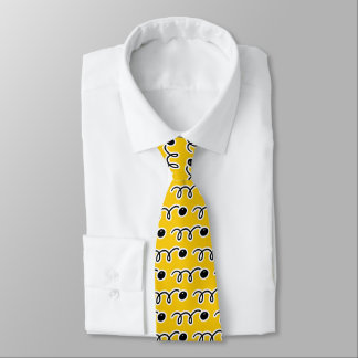 Squash ball sports pattern neck tie gift for him