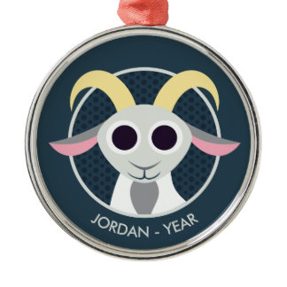 Stanley the Goat Metal Ornament