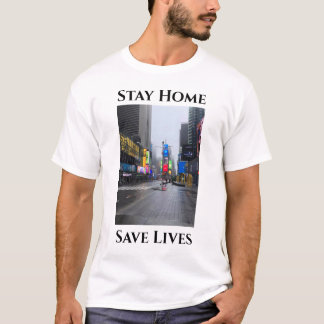 Stay Home Save Lives New York City Photo T-Shirt