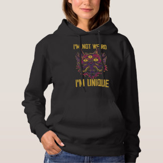 Stay Weird I'm Unique Kawaii Kitty Cat Monster Hoodie