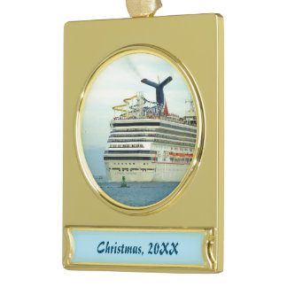 Sunshine Stern Dated Gold Plated Banner Ornament