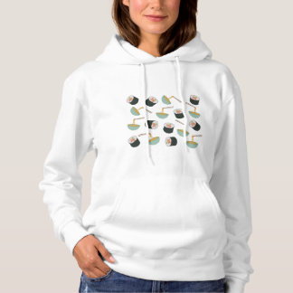 Sushi and Noodles Pattern Hoodie