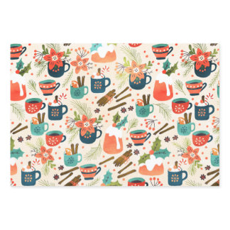Sweet Christmas Wrapping Paper Sheets