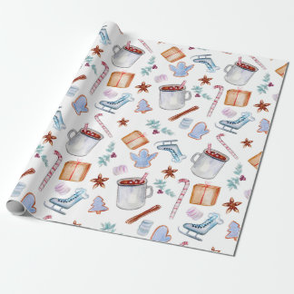 Sweet Cocoa, Holiday Spice, Candycanes, Cookies Wrapping Paper
