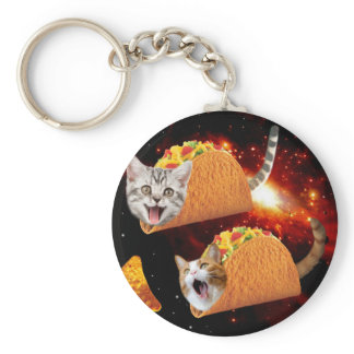Taco Cats Space Keychain
