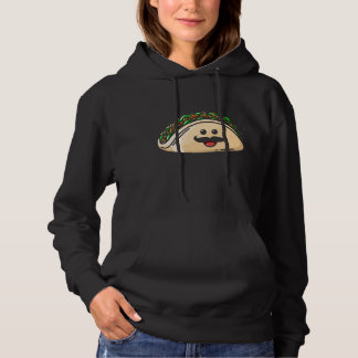 Taco Mustache Funny Mexican Food Lover Hoodie