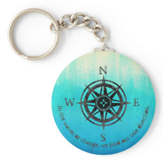 Teal Ombre Sea Keychain