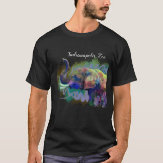 Technicolor Indianapolis Zoo Elephant~ lucky nose T-Shirt