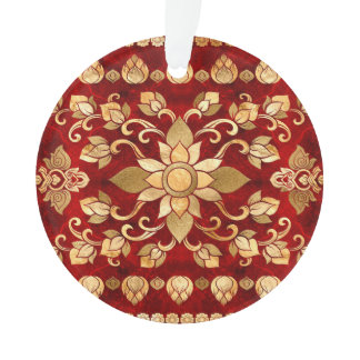 Thai Ornament - Gold and Red