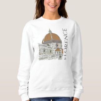 The Duomo Florence Italy Pen and Ink Drawing Sweatshirt