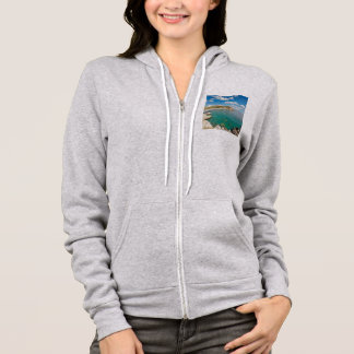 The famous beach Mavra Volia in Chios island, Gree Hoodie