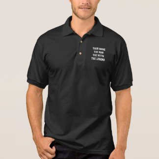 The man the myth the legend polo shirt for men