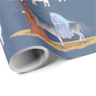 The Nativity in Watercolor Wrapping Paper