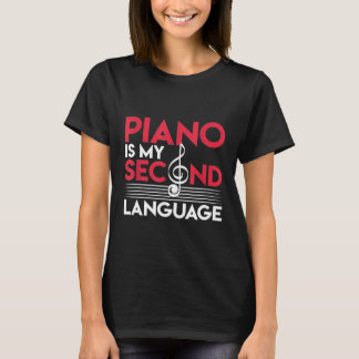 Treble Clef Musician Pianist Keyboards Piano T-Shirt