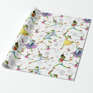 Tree Frog Nutcracker Ballet Wrapping Paper