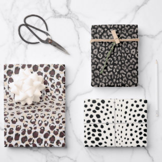 Trendy animal leopard print gift wrapping paper