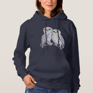 Two lovely snowy owls hoodie