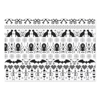 Ugly Sweater Christmas - Halloween Print Wrapping Paper Sheets
