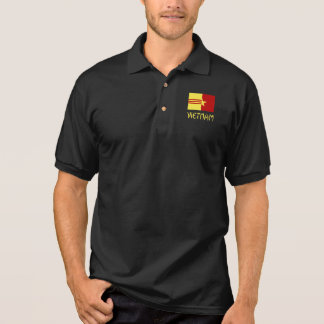 Vietnam in Yellow and Vietnamese Unity Flag Polo Shirt