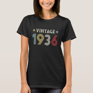 Vintage 1936 90th Birthday Gift 90 years old T-Shirt