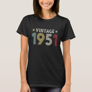 Vintage 1951 70th Birthday Gift 70 years old T-Shirt