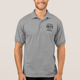 Vintage aged to perfection funny 50th Birthday Polo Shirt