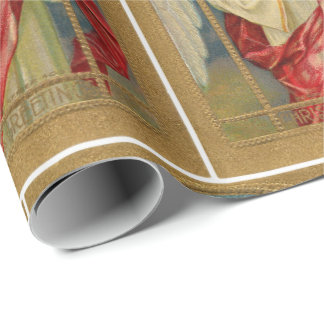 Vintage Angel Christmas Greetings Superior Quality Wrapping Paper