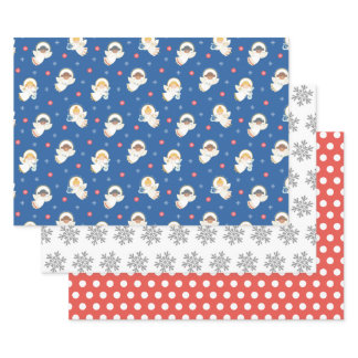 Vintage Christmas Angel Wrapping Paper Sheets