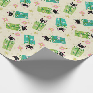 Vintage Kittens and Gift Boxes ©studioxtine Wrapping Paper