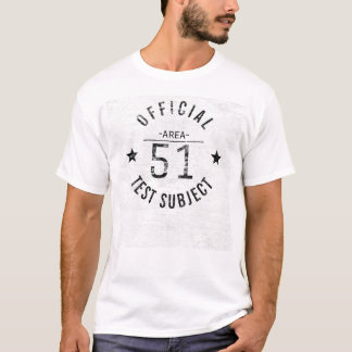 Vintage Official Area 51 Test Subject T-Shirt