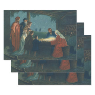 Vintage Religion, Adoration of the Shepherds Wrapping Paper Sheets