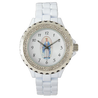 Virgin Mary Lady of Grace Blessed Mother Religious Watch