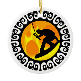 WAKEBOARD STAGE SETTER CERAMIC ORNAMENT