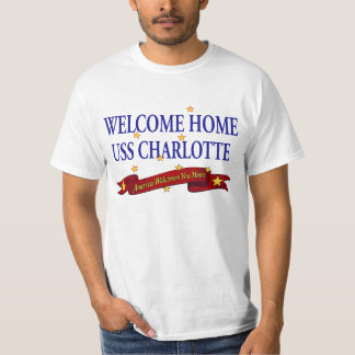 Welcome Home USS Charlotte T-Shirt