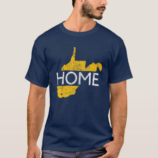 West Virginia Map WV Home 304 State Vintage T-Shirt