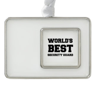 WORLD'S BEST SECURITY GUARD CHRISTMAS ORNAMENT