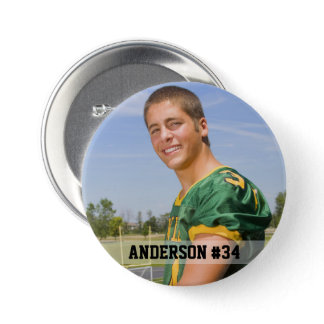 Your Photo Custom Football or Your Sport Round Button