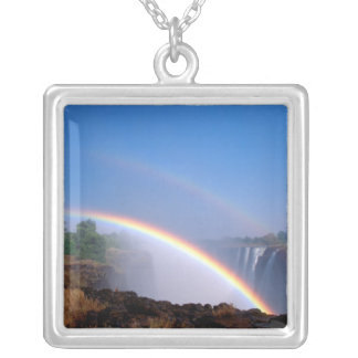 Zimbabwe, Victoria Falls National Park. Double Silver Plated Necklace